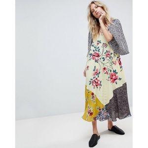 Free People River Market Mixed Print Midi Dress